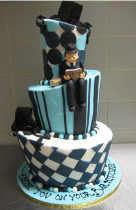 Modern bar mitzvah cake design picture