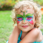 cute dragonfly face painting