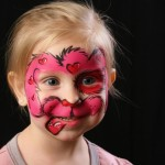 pink doggie face painting