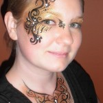 side face painting
